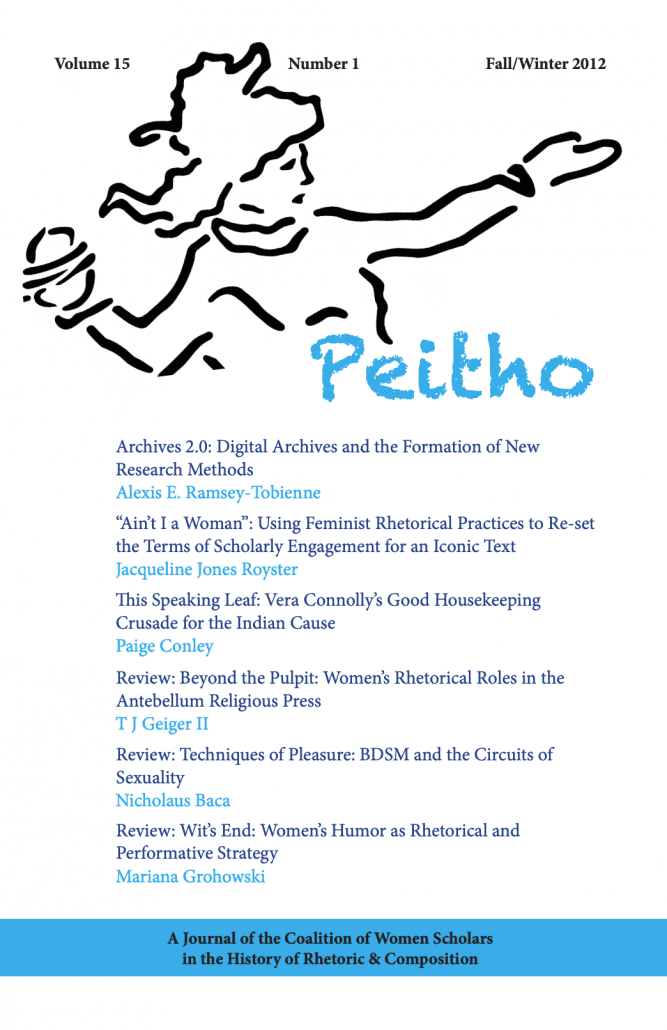 Peitho Volume 15 | Issue 1: Fall/Winter 2012